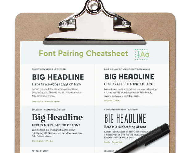 Free Font Pairing Cheatsheet: 15 Types of Fonts That Go Well Together