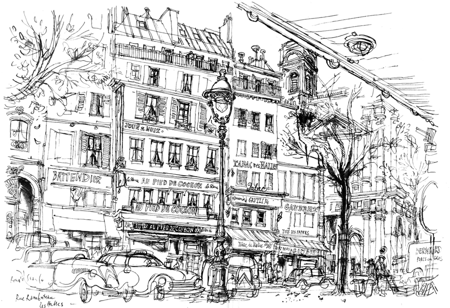 Turn Back the Pages: Paris Sketchbook by Ronald Searle and Kaye Webb